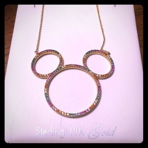 Mickey Mouse Icon Silhouette Necklace by CRISLU
